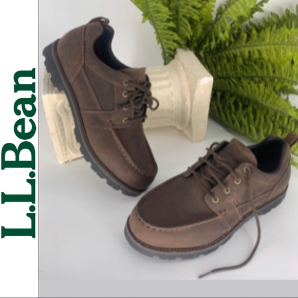 Ll Bean Mens Brown Leather Casual Shoe